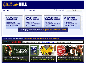 A picture of the William Hill website
